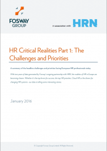 Fosway HRN Challenges and Priorities Cover
