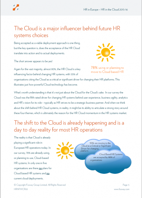 Fosway HRN Critical Realities Cloud HR Cover