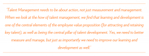Raising the talent bar quote