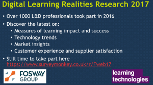 Digital Learning Realities Research 2017