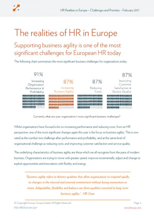 HR Realities in Europe: Challenges and Priorities