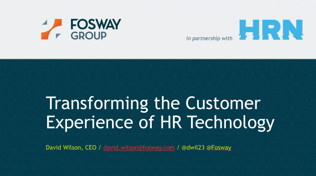 Fosway HR Tech World London 2017 Title