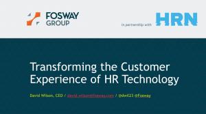 Fosway HR Tech World London 2017 Title