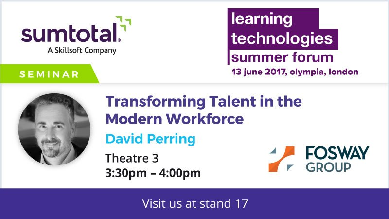 David Perring SumTotal Session Learning Technologies Summer Forum 2017