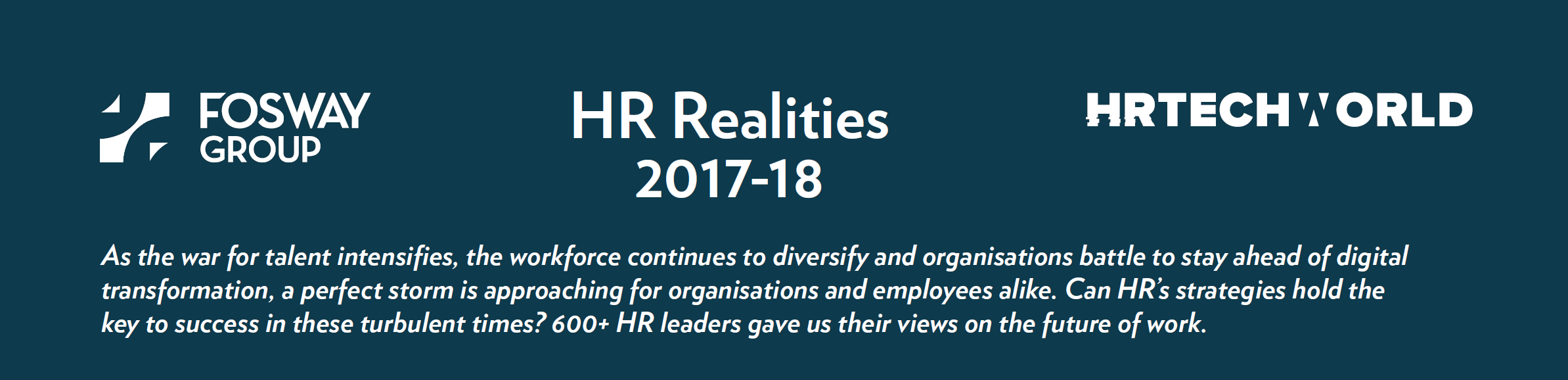 FOSWAY HR REALITIES HR TECH WORLD 2017-18