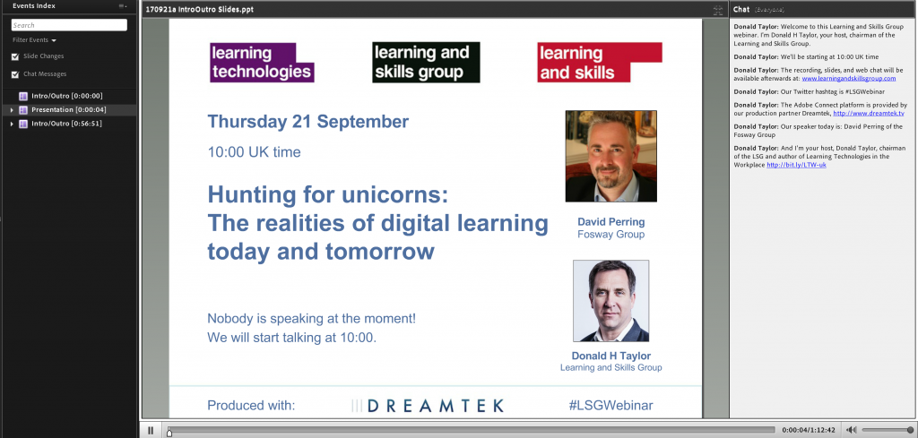 Fosway Learning and Skills Group Webinar Digital Learning