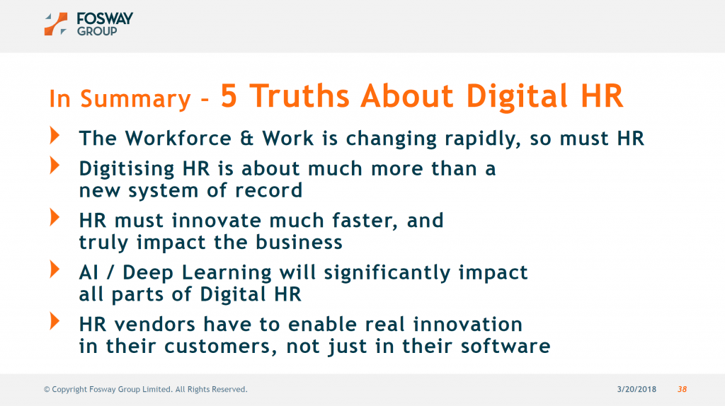 Fosway Truth About Digital HR_UNLEASH London