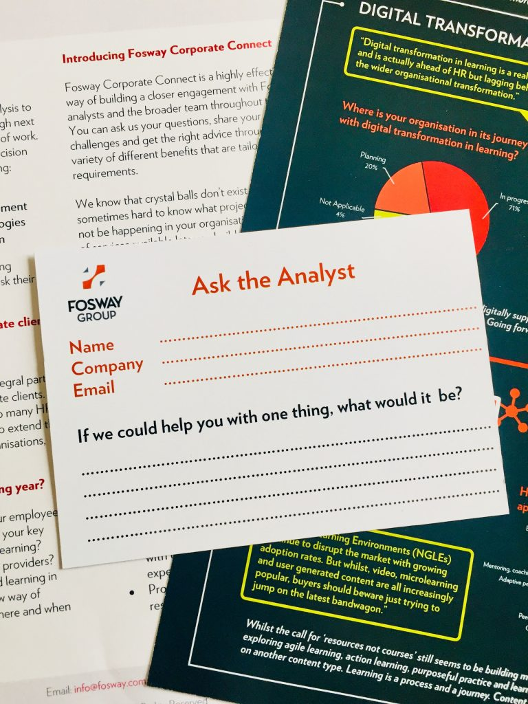 Fosway Ask The Analyst Digital Transformation Learning