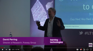 David Perring Fosway Group Learning Technologies Nudging for Continuous Learning Experiences