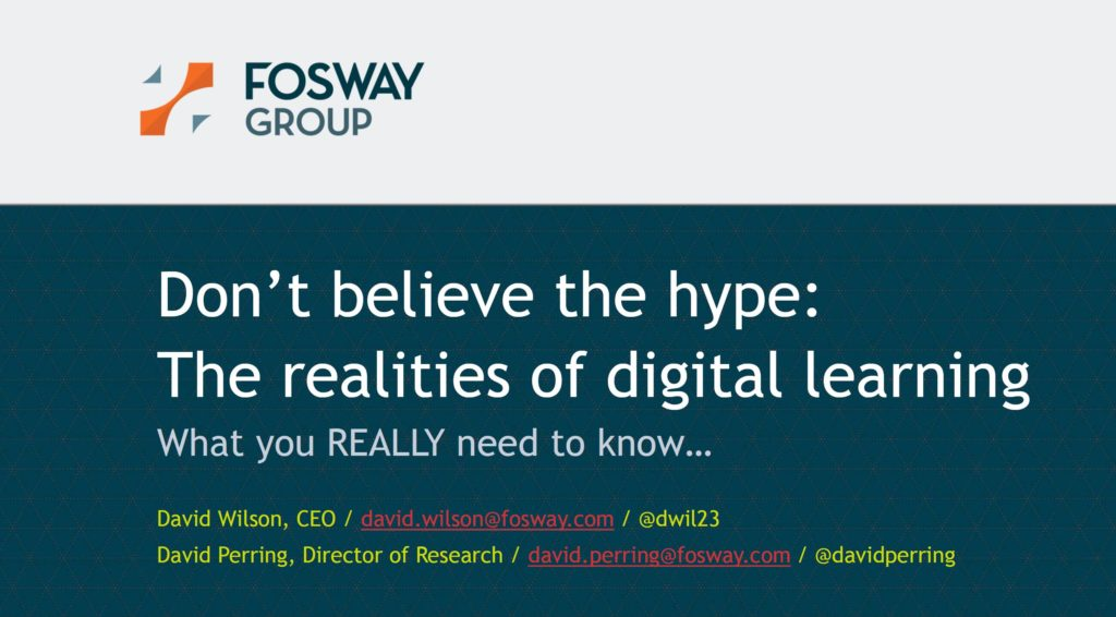 Fosway Learning Technologies 2020 David Wilson David Perring Presentation Title
