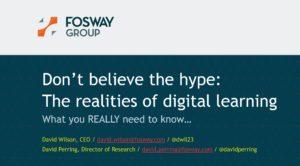 Fosway Learning Technologies 2020 David Wilson David Perring Presentation Title