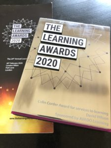 2020 Colin Corder Award Learning and Performance Institute LPI Fosway David Wilson