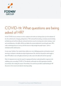 Fosway COVID-19 Impact on HR Report Cover