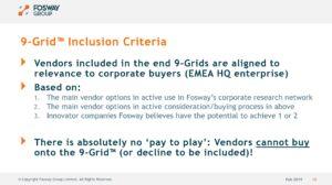 Fosway 9-Grid Inclusion Criteria